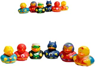 Fun Express Super Hero Rubber Duck Duckies Party Favors (24 Pack)