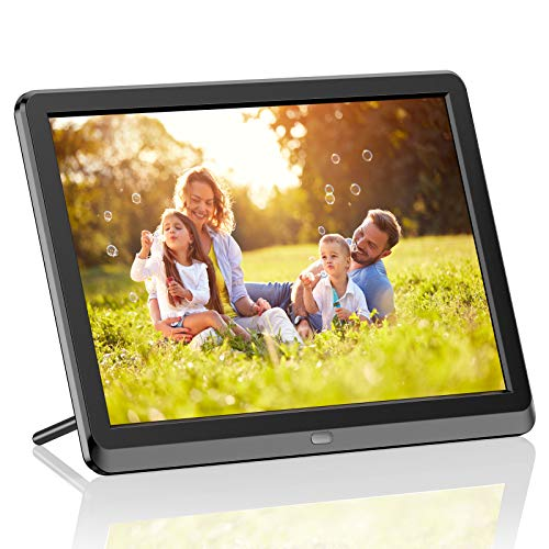 WiFi Digital Photo Frame 10 Inch Touch Screen, Smart HD Display, 8GB Storage, Picture Frame Share Photos and Videos via App, Email, Cloud, Auto-Rotate(Black)