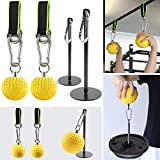 Ronisek Hand Grip Strengthener, Climbing Pull Up Power Ball with Straps, Grip Strength Trainer with...