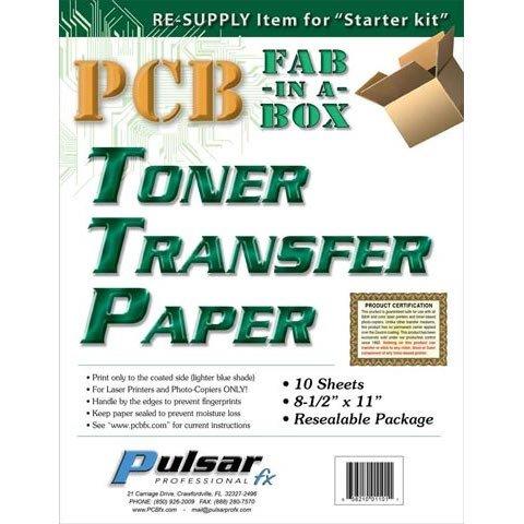 Pinzhi 10X Hojas A4 Calor Transferencia Transfer Papel para Circuito PCB Placa Cobre
