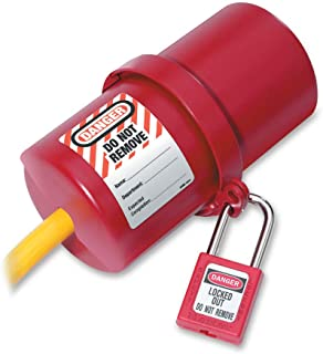 Master Lock 406RED Lockout Tagout Safety Padlock with Key