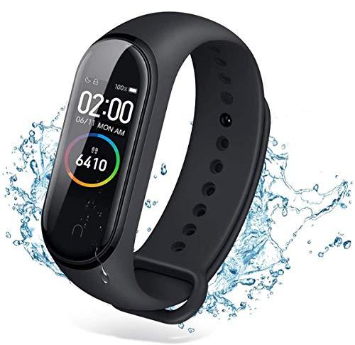 Smartwatch,Fitness Tracker,Rastreador de Actividad, Reloj Deportivo de Salud con Monitor de Frecuencia Cardíaca y Sueño, ,Contador de Calorías,Podómetro,IP67 a Prueba de Agua,para Android iOS