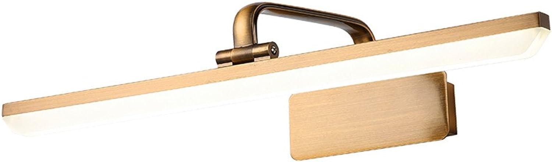 Amadoierly Amerikanischen Stil Scheinwerfer Retro Europischen Stil Spiegel Badezimmer Bad Schrank Beleuchtung Wasserdichte Led Make-Up Lampe Braun Bronze, 30 cm, 6 Watt