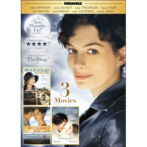 Miramax British Romance Triple Feature: Becoming Jane / Jane Eyre / Brideshead Revisited by Anne Hathaway