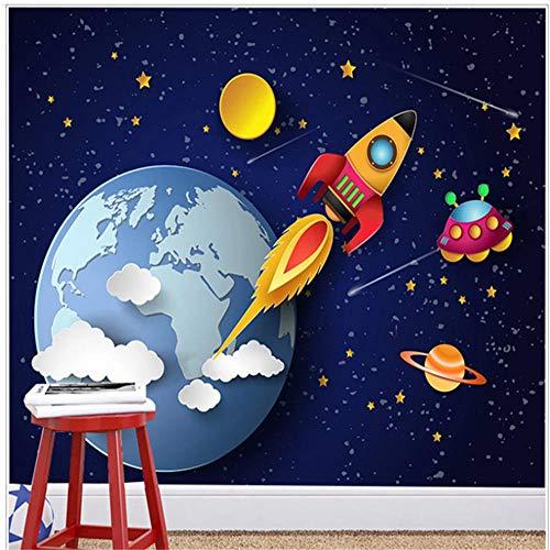 Newberli Papel Pintado Personalizado Mural Para Habitación De Niños Hermosa Tierra Y Planeta, Murales De Fondo De Estrellas, Arte De Pared, Decoración De Interiores, Pintura