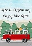 Flags Galore Deko-Fahne Life is a Journey Enjoy The Ride, doppelseitig Garden 12 x 18 Inches Multi