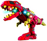 DinoBlaster 2 in 1 Transforming Dinosaur Toy Gun TG662 – Build & Take Apart Cool Tyrannosaurus Rex Dinosaur Toy for Boys & Girls Age 3 4 5 by ThinkGizmos (Trademark Protected)