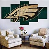 cmhai 5Pcs Hd Printing Canvas Painting Sports Football Team