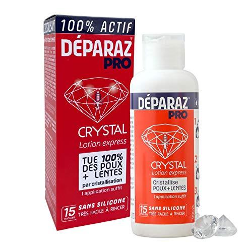 DÉPARAZ-PRO® Crystal Lotion Anti-Poux et Lentes - Nouvelle Génération - 100% Efficace - Sans Peignage - 100mL