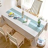 Mantel de Estilo nórdico para el hogar, Cocina, Dos Colores,...