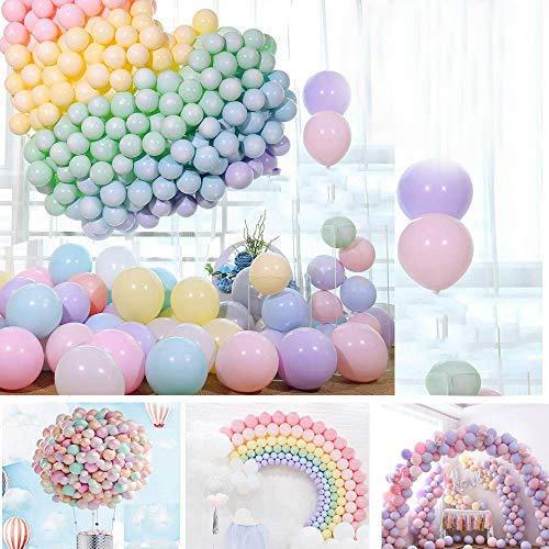 WENTS Pastel Globos Macaron Pastel Color Globo de Latex para Graduaciones, Fiestas, cumpleaños, día de San Valentín, Decoraciones 200pcs