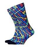 BURLINGTON Herren Socken Argyle Love Print - Baumwollmischung, 1 Paar, Blau (Marine 6120), Größe: 40-46