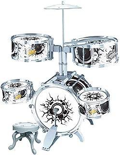Bateria Infantil Educativa Instrumento Musical com Pedal Rock Party 67cm