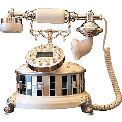 Pillowcase 123 Teléfono clásico de Estilo Antiguo de línea Fija con Esfera de Resina Blanca con Registros de Llamadas Maravilloso Regalo de Negocios