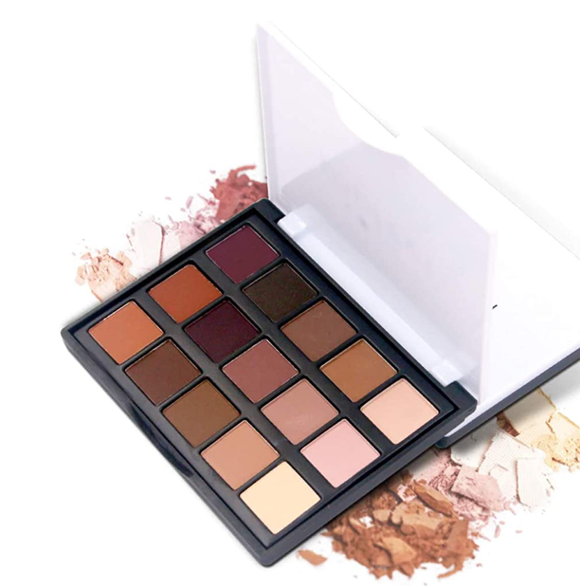 警告満了複製Eye Shadow luminous Glitter Natural 15 Color Easy to wear Shimmer Waterproof Matte Eyeshadow Palette Makeup