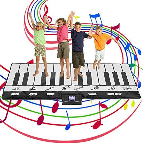 XJL Tanzdecke Tanzen Spielmatte Boden Klavier Kid Stepping Spielzeug Elektronische Musik-Tastatur-Riesen Mat Tanzgymnastikmatte Sport Spielzeug for Kinder Kinder