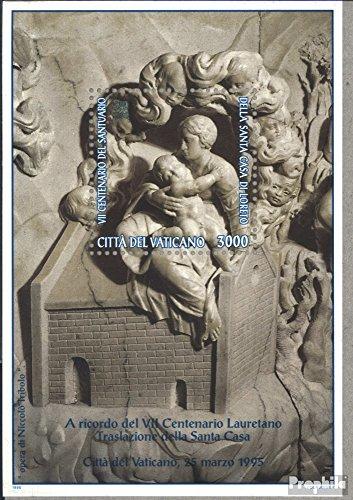 Vatikanstadt Bloc 15 (complète.Edition.) 1995 Maria avec Enfant (Timbres pour Les collectionneurs) Religion