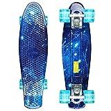 GORIFEI Mini Skateboard Komplette 22' 55cm,Mini Cruiser...