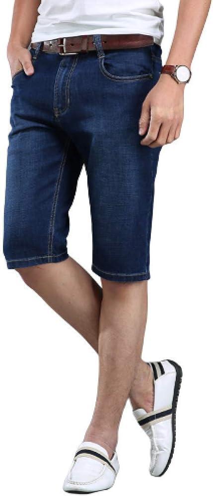 brandless Men's Shorts Denim Shorts Casual Elastic Loose Fashion Large Size Solid Color