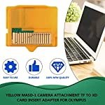MASD-1 Camera TF to XD Card Holder,Yellow 25 x 22 x 2mm(L x W xH) 1pcs Micro SD Attachment MASD-1 Camera TF to XD Card… 10 1.It is compact and portable 2.TF(Micro memory card) to XD Camera Card adapter 3.Prevent your camera and card from damage