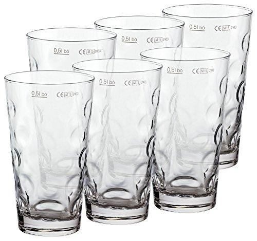 PREMIUM Dubbeglas für Schoppen (6 Stück 0,5l) Schoppenglas zum Genuss von Pfälzer Wein, Schorle oder Riesling original Pfalz Dubbegläser