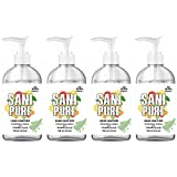 SANIPURE Hand Sanitizer GEL 16.9 oz Bottle 75% Alcohol | With Aloe & Vitamin E | Kills 99.9% of Germs | 4 Pack