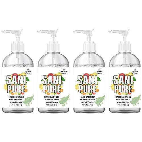 SANIPURE Hand Sanitizer GEL 16.9 oz Bottle 75% Alcohol  ...