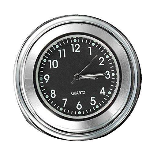 Reloj - SODIAL(R)7/8' 1' Reloj impermeable de marcacion de manillar de montaje de motocicleta y de bicicleta universal