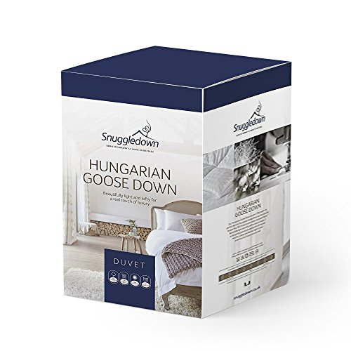 Snuggledown Hungarian Goose Down Double Duvet 4.5 Tog Summer Duvet Double Bed