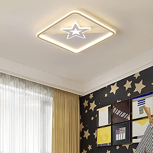 ZHANGQ Plafón LED moderno Plafón cuadrado Plafón de tres colores regulable en segmentos 45W-55W controlado por interruptor Luminarias empotradas/dorado / 52×52×5cm