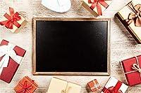 Amxxy 写真の背景のための木製の床の背景に10x7フィートのビニールBlackboradサラウンドギフトホリデーパーティーの装飾テレビ番組大人の子供の肖像画写真スタジオの小道具