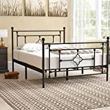 sleepanda Metal Bed Frame.Metal Platform Mattress Foundation.The Country Style Iron-Art Double Bed Antique Baking Paint.Sturdy Metal Frame Premium Steel Slat Suppot Warranty Five Year (Twin)