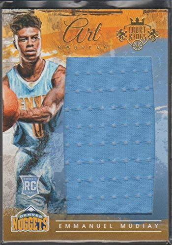2015-16 Panini Court Kings Emmanuel Mudiay Nuggets 283/299 Jumbo Rookie Jersey Basketball Card #7