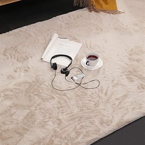 Non-slip carpet carpet yoga mat suitable for entra Thick Hairy Carpet Nordic Style Non-slip Bedroom Bed Blanket Household Fluffy Imitation Rabbit Hair Living Room Coffee Table Carpet Non-slip carpet h
