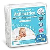 Babysom - Protège Matelas Bébé Anti-acarien - 70x140 cm | Alèse imperméable Souple et Silencieuse | Bouclette 100% Coton : Doux et Absorbant | Oeko-Tex®