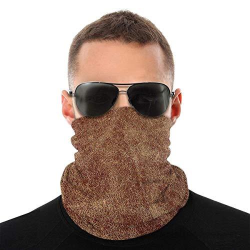 Mike-Shop Old Leather Neck Warmer Neck Gamaschen Gesichtsschalwärmer Weiche Sturmhaube Schal Gesichtsschutz mit 6 Filtern