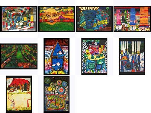 Kunstkarten-Set Friedensreich Hundertwasser I
