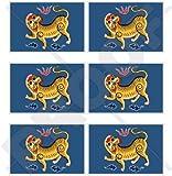 Formosa Flagge, Taiwan (1895) Republik China, Roc 40mm (40,6cm) Mobile, Handy Vinyl Mini Sticker, Aufkleber X6