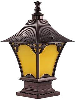 ZHCWT Lantern Outdoor Classic Decor Antique Glass,Garden Lantern Indoor and Outdoor Light