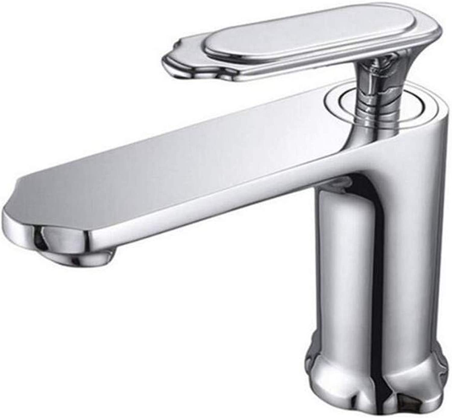Faucet Luxury Plated Modern Faucet Faucet Washbasin Mixer Brass Unique Design Hot and Cold Single Lever Basin Faucet