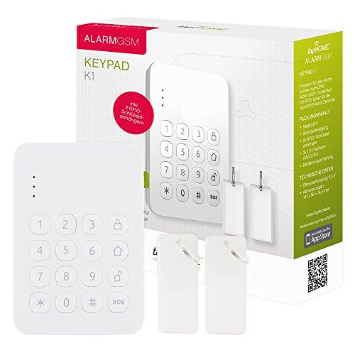Alarmanlage  Keypad - Drahtloses Tastenfeld per Funk zur Steuerung der Alarmanlage per Zugangscode oder RFID-Anhänger. Einfache Zugangskontrolle.