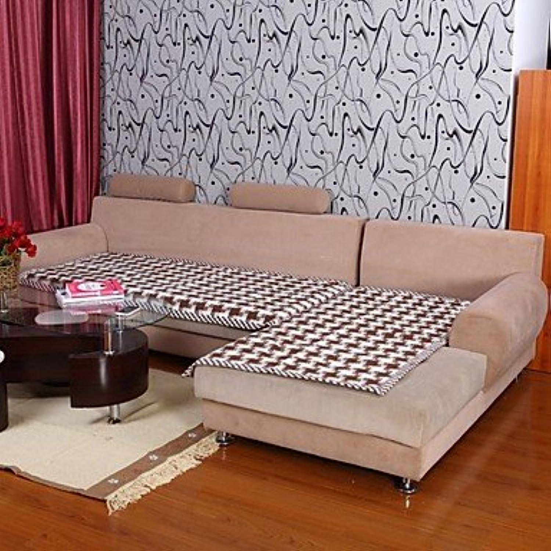 WWQY Cotton Check Pattern Bordure Coffee Sofa Cushion 333588
