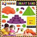 IQ BUILDER | Sensory Toys | Creative Educational Art Play Sand for Boys and Girls Ages 3 4 5 6 7 8 9 10 Year Old + | Fun MOLDABLE Synthetic Beach Sand KIT for Children | Best Toy Gift for Kids