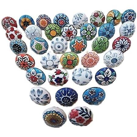 Sky Blue Color Vintage Ceramic Knobs Kitchen Cabinet Knobs Drawer Knobs Hardware Knobs Kids Bedroom Knobs Cupboard Knobs Ceramic Door Knobs