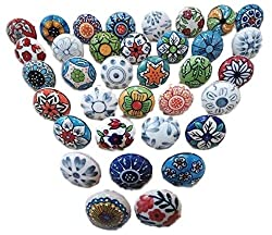 painted ceramic knobs for kitchen cabinets