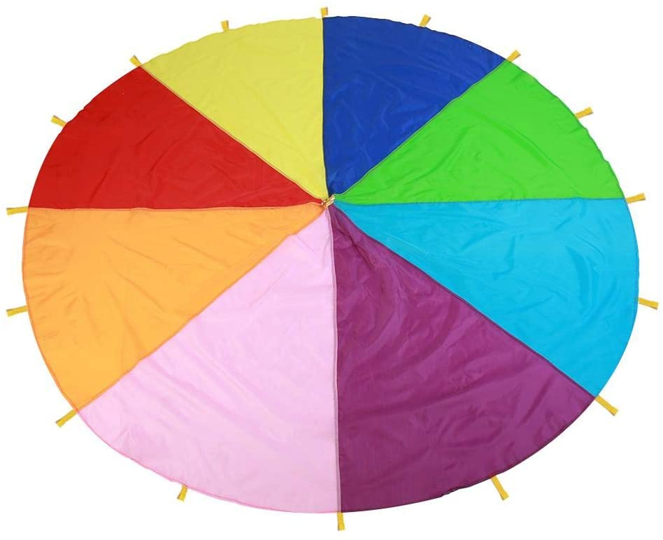 FTVOGUE Charlotte Mall Kids Play Parachute H Selling rankings with Rainbow Multi-Color