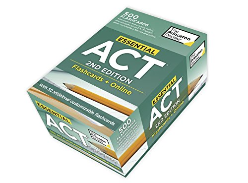 Essential ACT, 2nd Edition: Flashcards + Online: 500 Need-to-Know Topics and Terms to Help Boost You