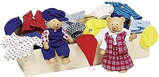 Goki Flexible Puppets Bears Benna & Bennoh with Wardrobe Doll