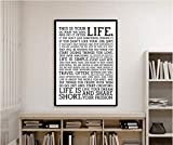 Decorative poster Holstee Manifesto Life Motivational Poster suitable for decoration of meeting room, office room, living room