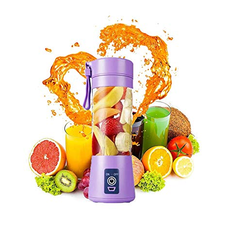 Portable Blender ,Small Blender Shakes Travel Blender Cup 380ml,Six 3D Blades for Great Mixing 2000mAh USB Rechargeable Batteriesfor HomeSportsOffice Travel Gym and Outdoors 92 purple